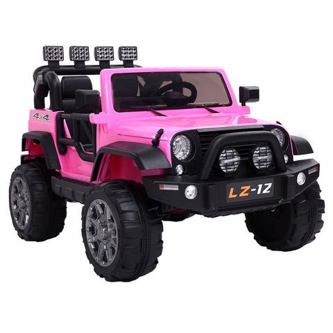 Ride On Car Dual Drive 550*2 Battery 12V with Remote Charger With Light Pink