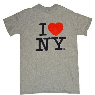 I Love NY T-Shirt - Size: Adult Small - Color: Grey