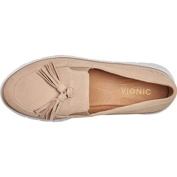 Vionic Women's Quinn Loafer Sand Suede