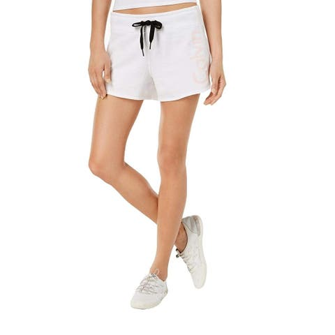 Calvin Klein Performance Women's Running Fitness Shorts, White, XXL