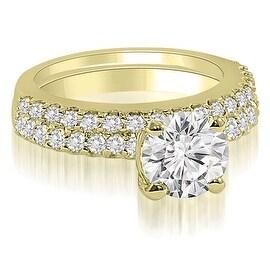 1.15 cttw. 14K Yellow Gold Round Cut Diamond Bridal Set