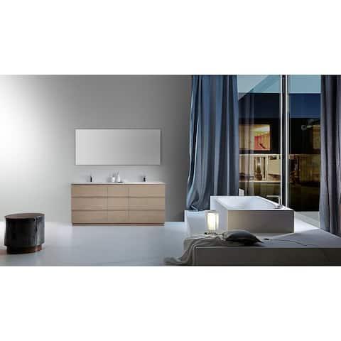 "ROTHENBURG 72"" Golden/Charcoal Freestanding Modern Bathroom Vanity Set"