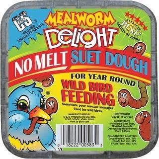 C&S 11-3/4Oz Mealworm Suet