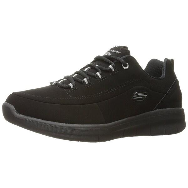Skechers Womens 12364/BBK Low Top Lace Up Walking Shoes - 9.5