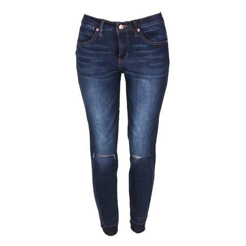 Jag Dark Blue Slim-Fit Dark Wash Ankle Jeans