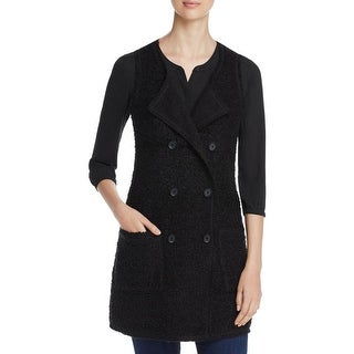Sanctuary Womens Outerwear Vest Double Breasted Wool Blend - s