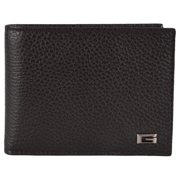 61d7b73b2ddd Shop Gucci Men's 150403 2038 Brown Leather G Logo Bifold Wallet W ...