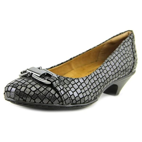 Softspots Sahara Women W Round Toe Synthetic Gray Heels