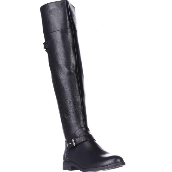 B35 Deidre Knee-High Flat Boots, Black - 5.5 us