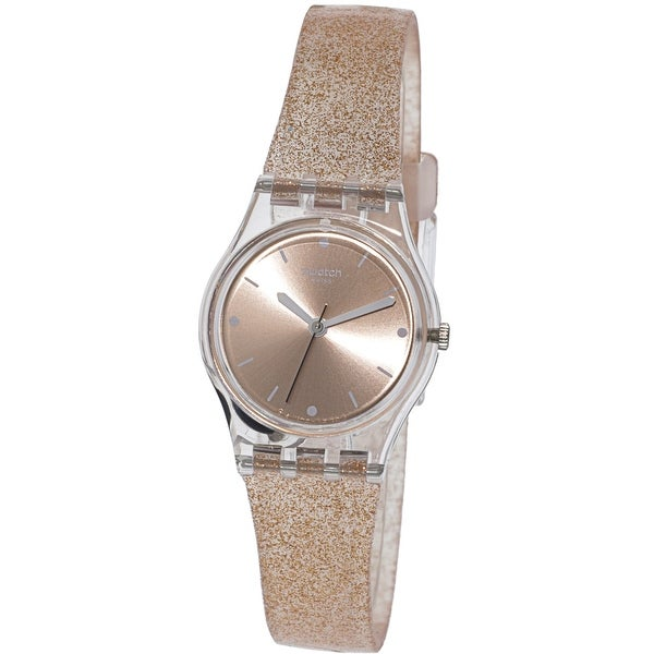 82d09f12b537 Shop Swatch Women s Pinkindescent Clear Silicone Swiss Quartz Fashion Watch  - Free Shipping Today - Overstock - 21907461