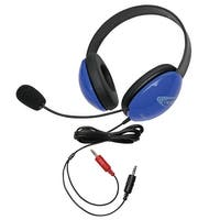 Califone 2800BL-AV Listening First Headset with Dual Plugs, Blue