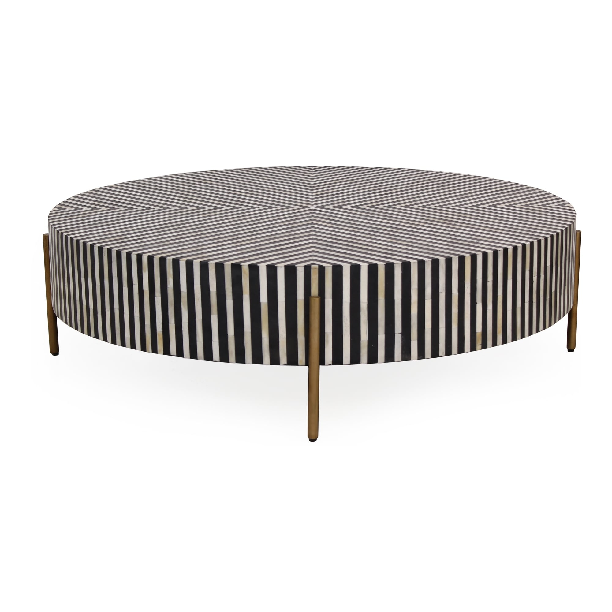 Picture of: Aurelle Home Modern Large Round Camel Bone Veneer Coffee Table Overstock 31513366
