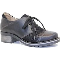 Dromedaris Women's Kalista Oxford Black Leather