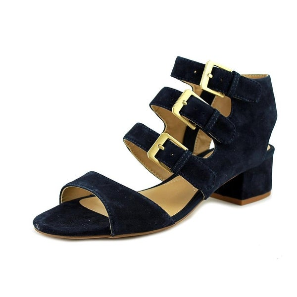 Adrienne Vittadini Laira Women Open Toe Suede Blue Sandals