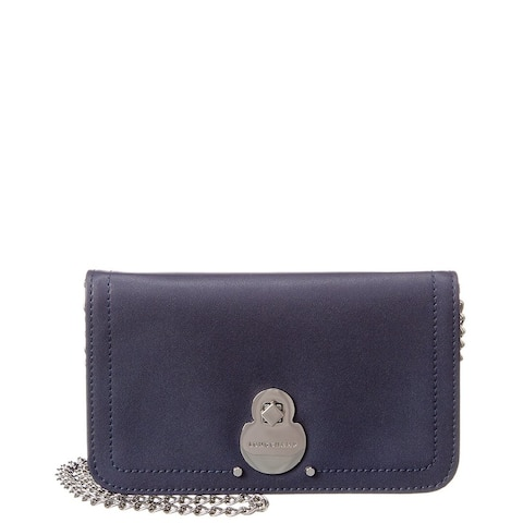 Longchamp Cavalcade Leather Wallet On Chain
