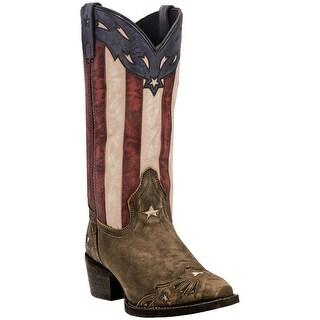 Laredo Womens Keyes Stars & Stripes Boot, Tan