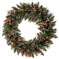 """30"""" Snow Tip /Berry Wreath Dural 50MU"""