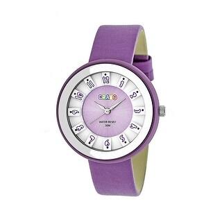 Crayo Celebration Unisex Quartz Watch, Genuine Leather Band