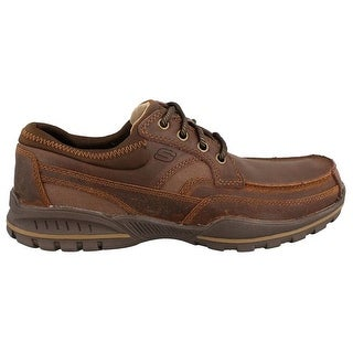 Skechers Relaxed Fit Vorlez Lington Mens Oxfords Dark Brown