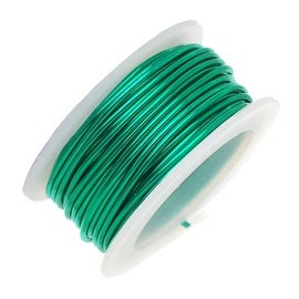 Artistic Wire, Silver Plated Craft Wire 24 Gauge Thick, 10 Yard Spool, Christmas Green