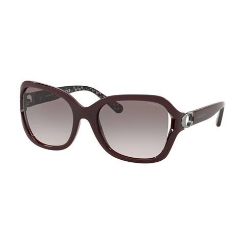 Coach Square HC8238 Women MATCH OXBLOOD Frame GREY PINK GRADIENT Lens Sunglasses