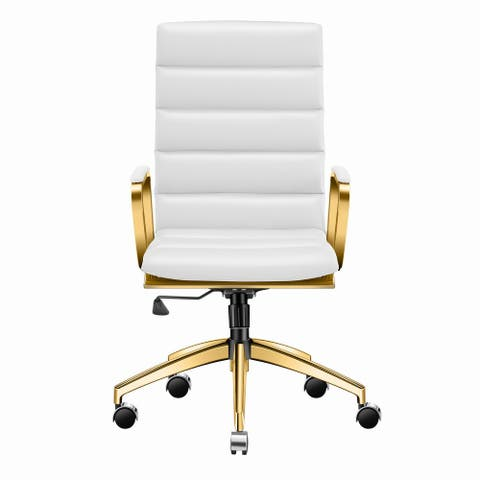LUXMOD® Gold High Back Office Chair,Adjustable Swivel Chair , Ergonomic Desk Chair for Extra Back & Lumbar Support.