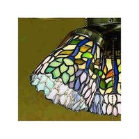 Meyda Tiffany 27476 Stained Glass / Tiffany Fan Light Kit Glassware from the Classic Wisteria Collection