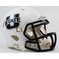 Utah State Riddell Speed Mini Football Helmet