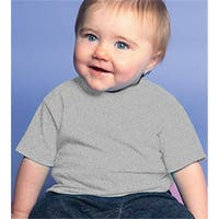 Rabbit Skins 3401 Infant Cotton T-Shirt, Heather, Size - 24