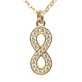 Julieta Jewelry Infinity CZ Charm Necklace