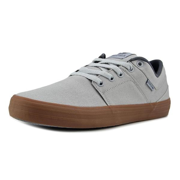 Supra Vista Men Round Toe Canvas Gray Skate Shoe