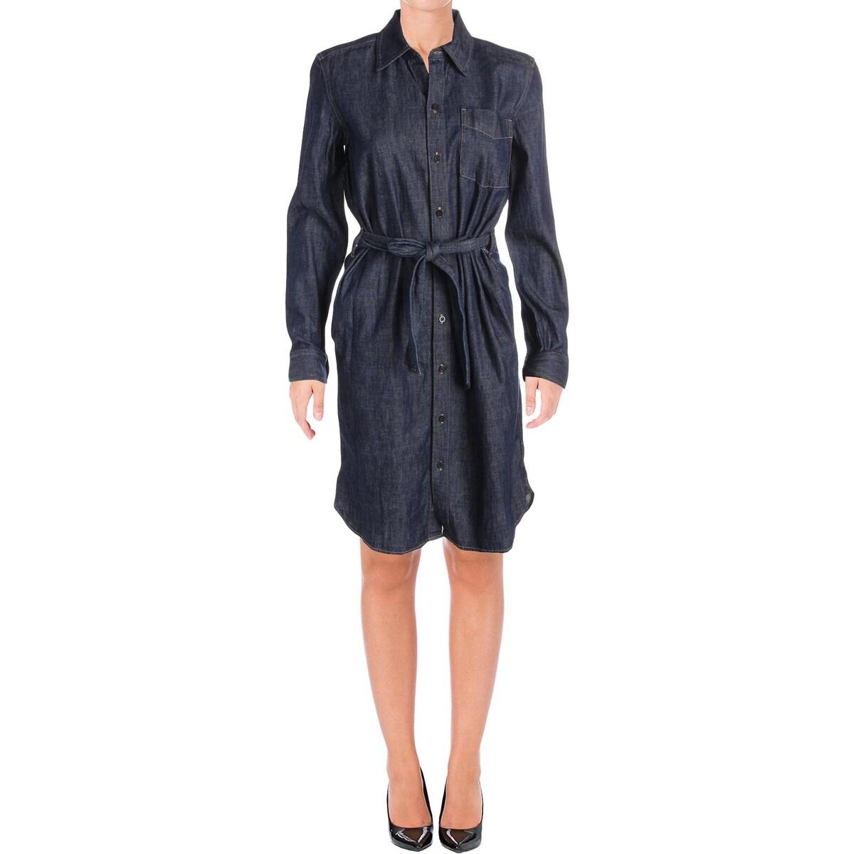 best value new concept autumn shoes Shop Lauren Ralph Lauren Womens Jameika Shirtdress Denim Button ...