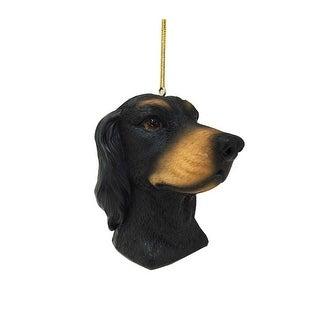 "4.5"" Black Dog Design Christmas Ornament"