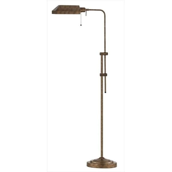 Cal Lighting 100 Watt Adjule Height Pharmacy Floor Lamp Rust