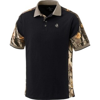 Legendary Whitetails Men's Big Game Camo Pro Hunter Performance Polo (Option: Beige)
