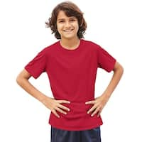 Hanes Cool DRI® Youth T-Shirt - Size - L - Color - Deep Red