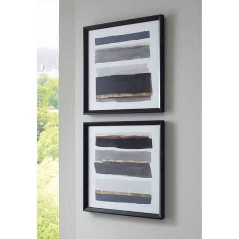 Hallwood Black/White/Gray Wall Art - Set of 2