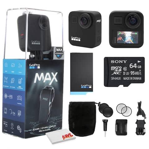 GoPro MAX 360 Waterproof Action Camera + 64GB Memory Card and More