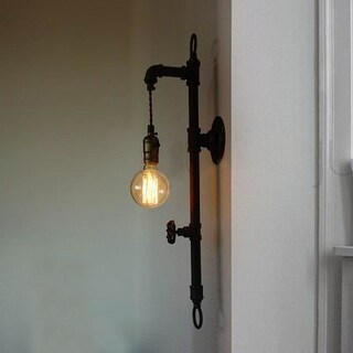Vintage industrial edison pipe wall sconce