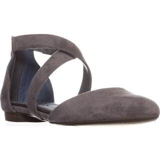 Dr. Scholls Adjust Ankle Strap Ballet Flats, Grey