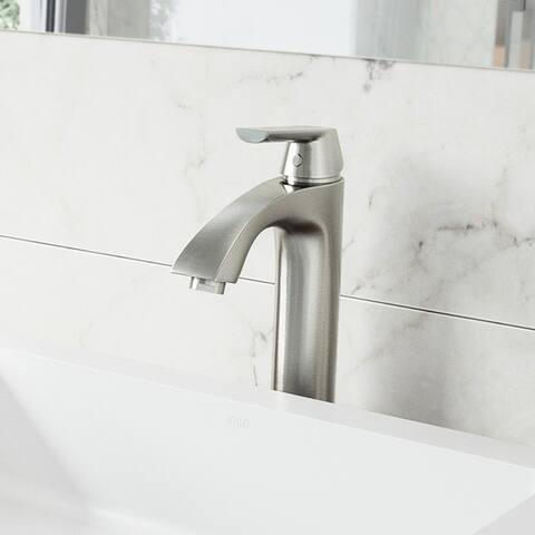 VIGO Linus Brushed Nickel Vessel Bathroom Faucet