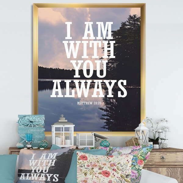 Designart 'With You Always' Lake House Framed Art Print. Opens flyout.