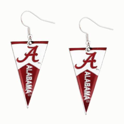 Alabama Crimson Tide NCAA Pennant Dangle Earring - 1 1/4 inch long charm