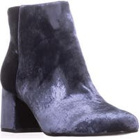 Via Spiga Maury Block-Heel Booties, Blue - 8.5 us / 38.5 eu