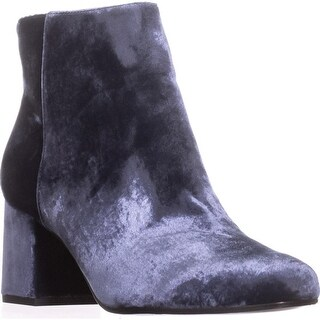 Via Spiga Maury Block-Heel Booties, Blue