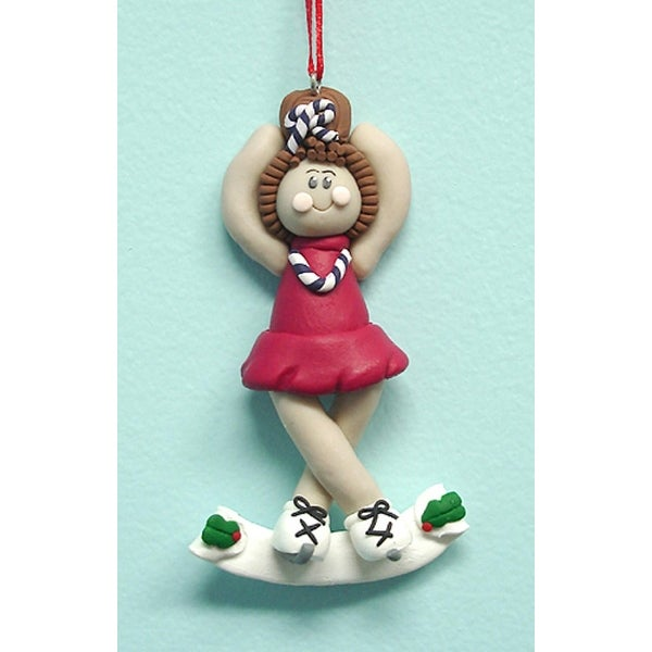 """4"""" Female Ice Figure Skater Christmas Ornament #49553"""