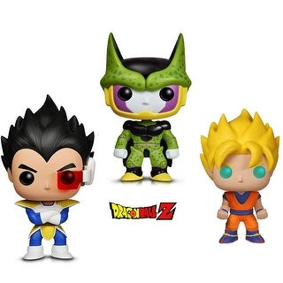 Funko Pop! Animation Dragon Ball Z - Perfect Cell, Super Saiyan Goku and Vegeta (3 Items)