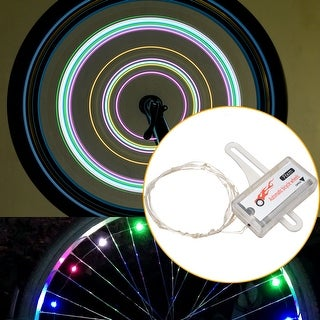 Rechargeable Waterproof LED Bike Wheel Lights String Bicycle Reflectors Safety Lights Auto Open and Close