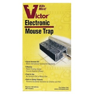 Victor M250S Small Electronic Animal Trap For Mice, Plastic
