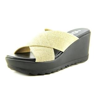 Callisto Mardi   Open Toe Synthetic  Wedge Sandal